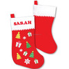 2017 trendy high quality China supplier ornament gift wholesale handmade felt hot sale Christmas stockings , handicraft sock OEM