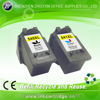For Canon 540 Xl Bk 541 Xl Cl Remanufactured Ink Cartridge