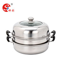 3 Layer Stainless Steel Couscous Steamer Pot Baby Food Steamer