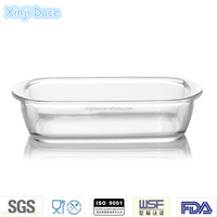 Wholesale microwave nonstick pyrex glass deep pizza pan