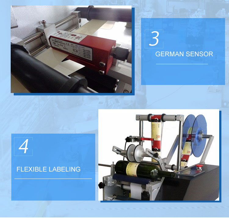 semi auto round bottle labeling machine 6