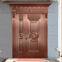 HS-GX2111 oversize entrance chinese brass and bronze luxury security copper color doors