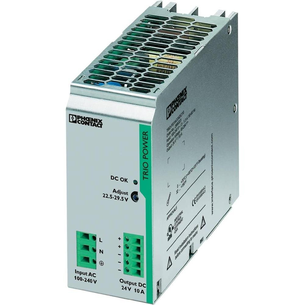 DIN Rail Power Supplies TRIO-PS/1AC/24DC/10 TRIO 24V 10A 1PHASE