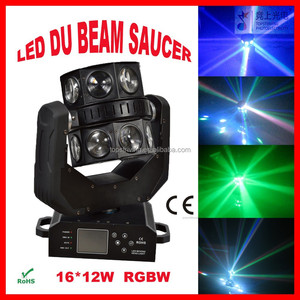 Hot ! led sharp moving beam 16*12w rgbw 4 in 1 show dj effect club light