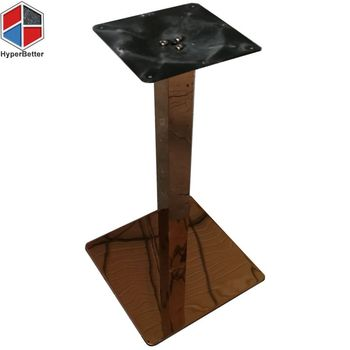Pedestal stainless steel brushed dining table bases