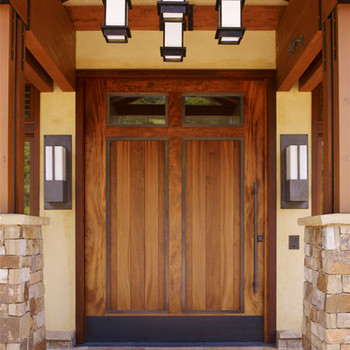 Exterior Doors Indian Rustic Wood Front Double Entry Solid Door With Gl Strip