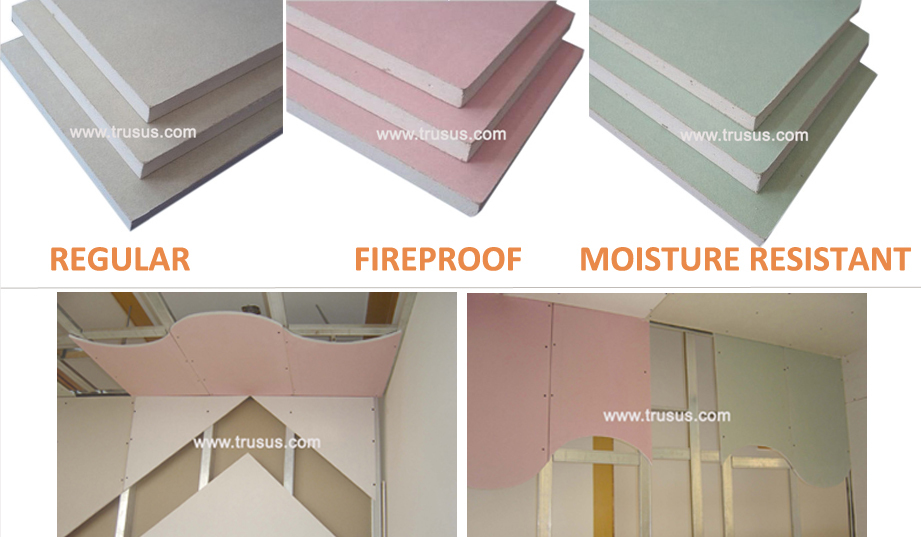 Fire Rated Gypsum Board : Fire rated water resistant high strength office partition