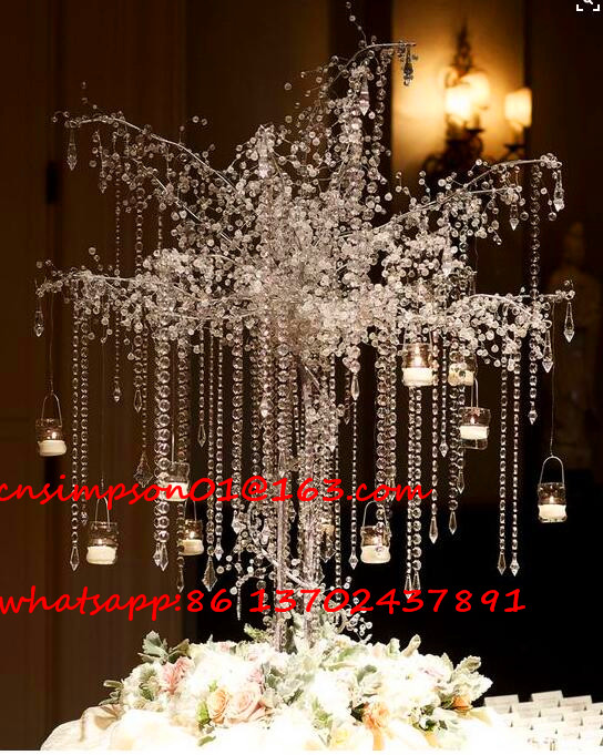 Large Crystal Wedding Tree Centerpieces For Decoration Buy Crystal