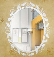 iron metal frame, antique gold leaf metal frame wall mirror