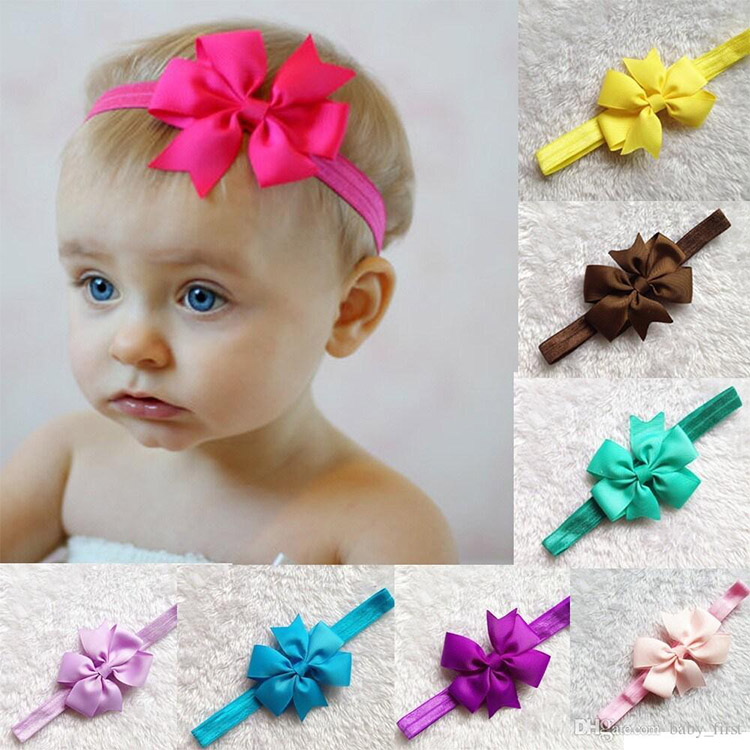 Blaward Baby Girl Hair accessories Stretchy Headband Petals Flower Baby Hair Band Newborn