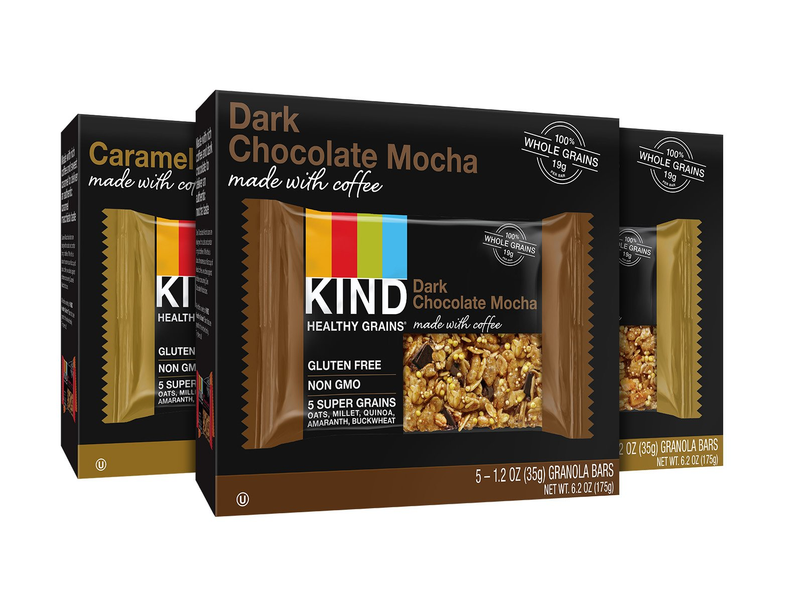 KIND Healthy Grains Granola Bars, Coffee Lovers Variety Pack, Gluten Free, 1.2 oz Bars, 15 Count