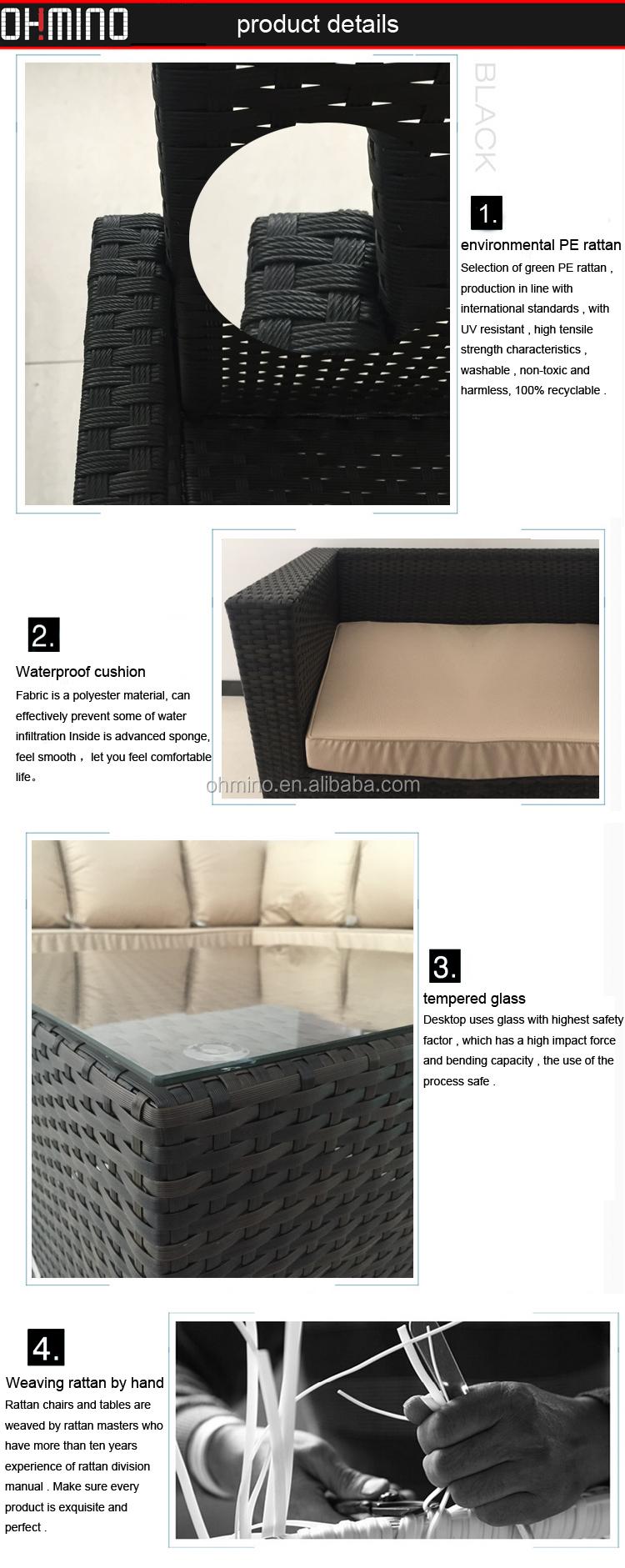 Barato rattan jardín nuevo diseño conjunto sofá precio muebles ...