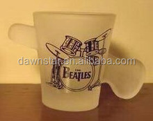 Hot sale the Beatles drum set guitar frosted shot glass