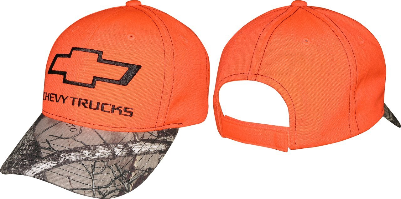Checkered Flag 2015 Chevy Trucks Camo Hat-Blaze Orange