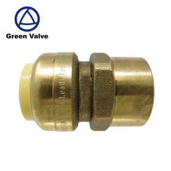 "Green-GutenTop 3/4"" Sharkbite Plumbing Push Fit Plug / Cap /TEE /Elbow/ Straight Coupling Lead Free Brass Fitting"