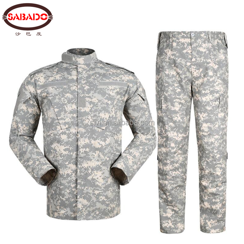 Commercio all'ingrosso OEM Personalizzata Camouflage BDU Fatica di Combattimento Set Camuffamento Tattico Militare Esercito Uniforme