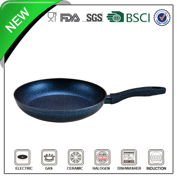 Marble coated double sided frying pan good for environment