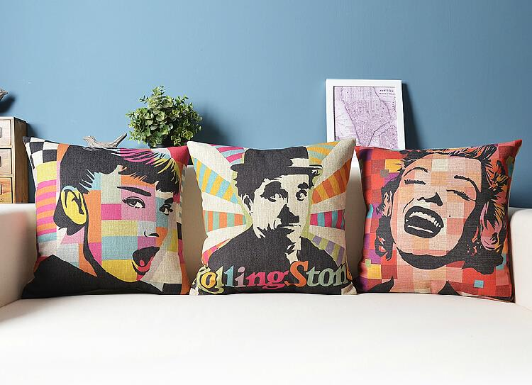 Pop celebrity Nordic Modern minimalist cotton Cushion Linen Pillow home  decorate sofa cushions 46f5c60c8f0f