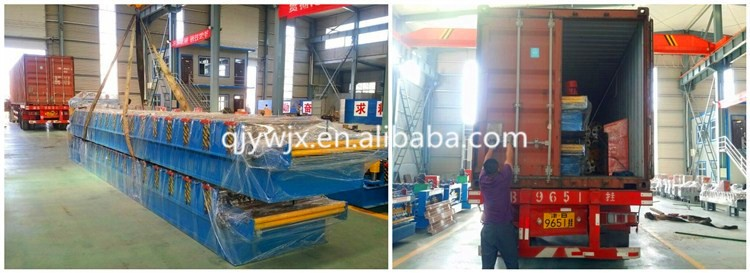 Single layer roofing sheet tile installation roll forming machine