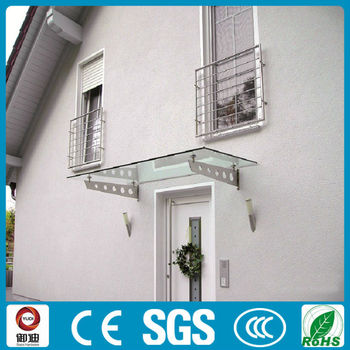 External 316 Stainless Steel Glass Canopy Awning For Roof