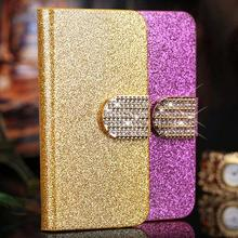 Lenovo A859 case Bling Leather Case Cover For Lenovo A859 A 859 a678t Flip Cover Mobile Phone Bags Covers Cases Accessories