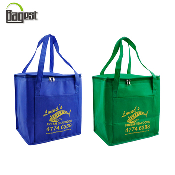 high quality non woven insulated cooler bag for frozen