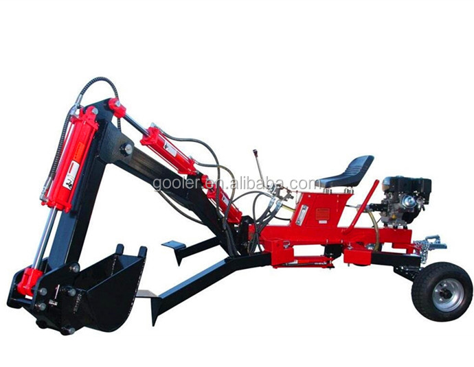 CE approved small ATV towable Backhoe