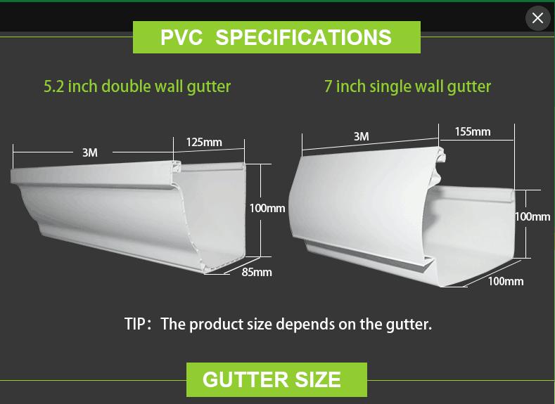 Pvc Rain Gutter Accessories Include End Cap Gutter Joiner