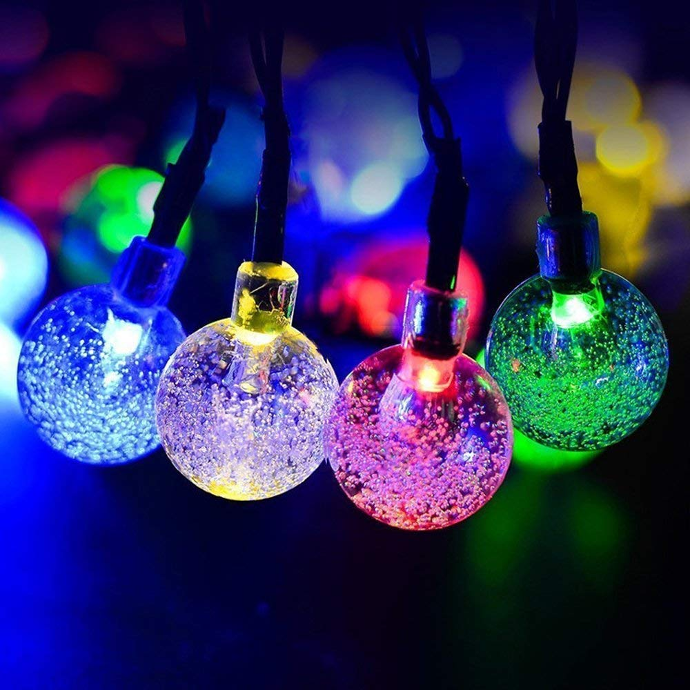 Crystal ball String Lights,6M 40 LED Battery Powered string light Star String Lights for Chrismas/Party/Wedding/New Year/Table Decorations,Garden Décor for Indoor/Outdoor (color)