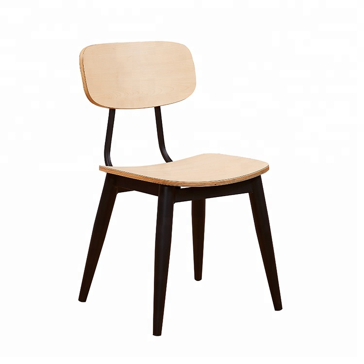 New design wood hotel restaurant chairs industrial HPL finish cafe plywood chair for sale used