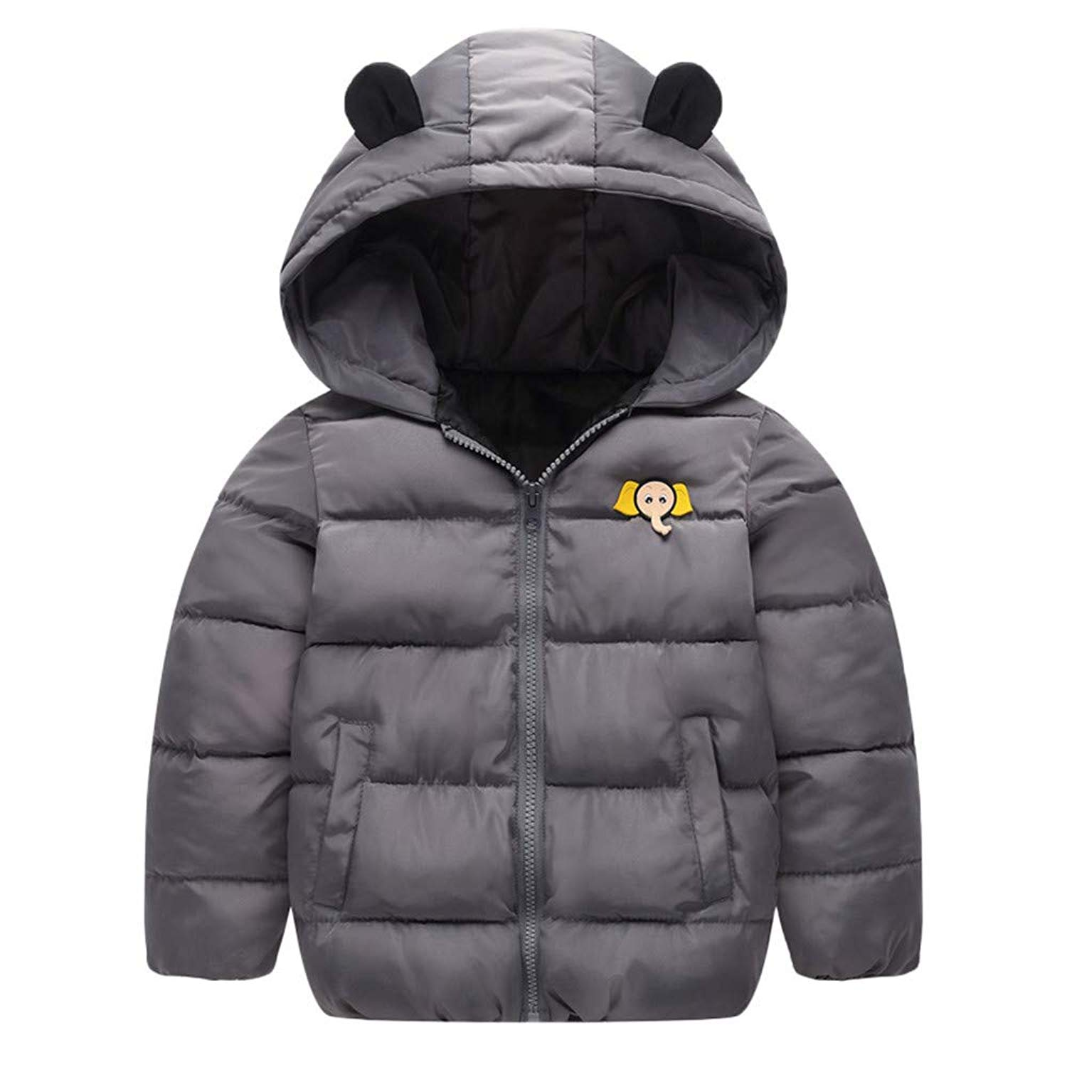 a883ee518 Get Quotations · Outtop(TM) Baby Boy Girl Down Jackets Coats Toddler Kids  Winter Lightweight Cartoon Hooded