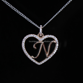 Beautiful design 925 silver letter n necklaceletter initial beautiful design 925 silver letter n necklaceletter initial necklace aloadofball Choice Image