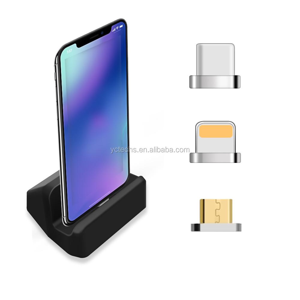 רכב הר מחזיק טלפון סלולרי מערכות מגנטיים נוחים חדש עם מגנטי כבל טעינה עבור Iphone8/SamsungS8