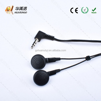 Factory disposable earphone for tourist bus/Factory Aviation headset train/Disposable in ear latest audio recommended/ear phones