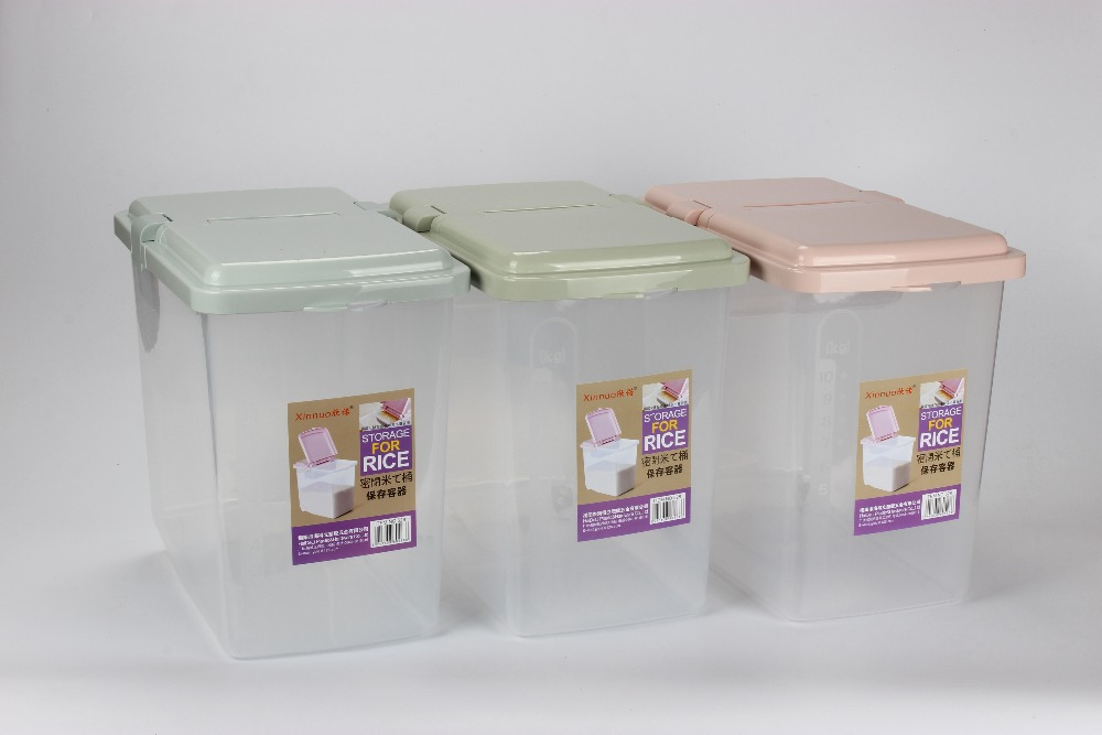 Good quality houseware plastic food box rice container rice box with wheel,factory supply
