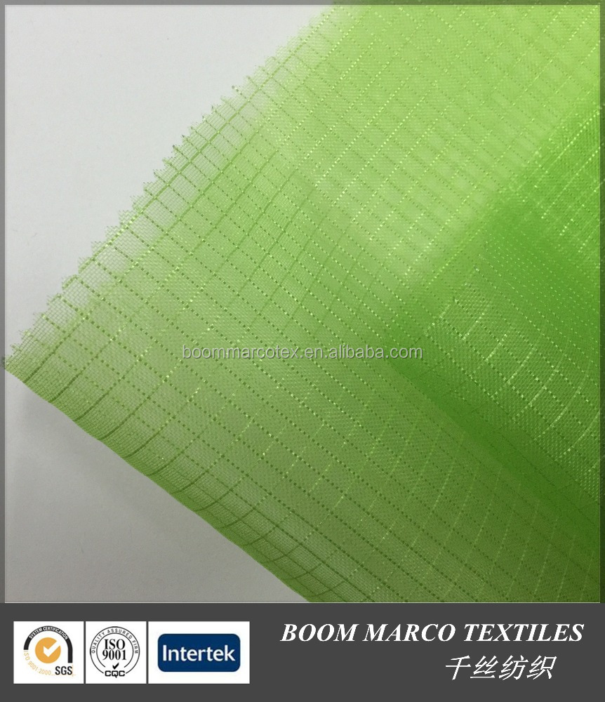 fluo green nylon mono grid mesh fabric 110gsm 140cm for shoes bags baby carriages garments car seating