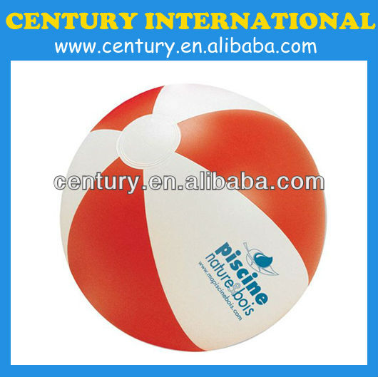 clear PVC inflatable beach ball toy ball non-toxic with logo printing
