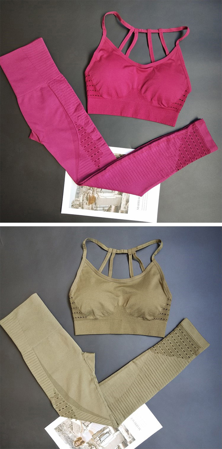 Trainingsanzug-Yoga-Set Frauen Fitnessstudio nahtlose Yoga-Set
