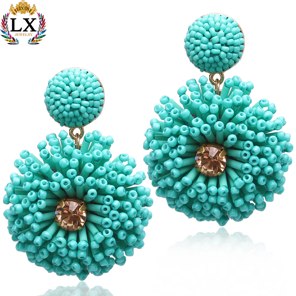 ELX-01070 high quality handmade boho flower <strong>earrings</strong> custom fashion jewelry bead seed bead <strong>earrings</strong> for women 2018