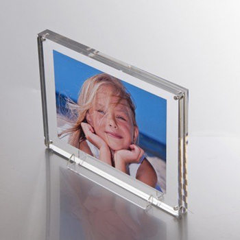 4x6 Standing Clear Acrylic Picture Frames Perspex Magnetic