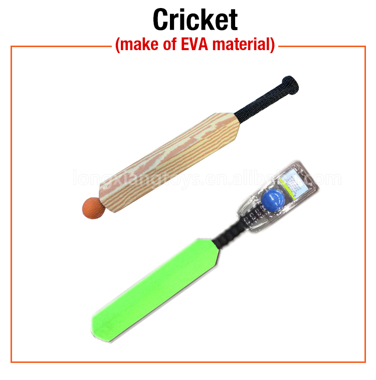 OEM eva factory grain kids foam cricket bat for sale