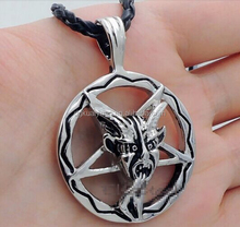 Cool design punk style stainless steel biker satanic jewelry