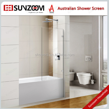new design simple style glass tub doorone piece tub door tempered glass
