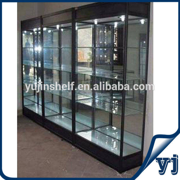 Factory Made Free Standing Sliding Door Black Square Aluminum Wall
