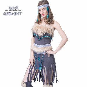 NATIVE AMERICAN MAIDEN COSTUME HALLOWEEN USA CLASSICAL WOMEN COSTUMES DRESS UP IH-U1039