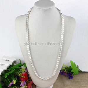 SP205 Yiwu Huilin Jewelry latest design fashion 8mm pearl beads necklace designs