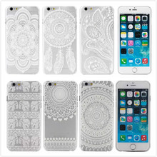 """New Hard Plastic White Painted Back Case Cover coque capa para For Apple iPhone 6 i6 4.7"""" Mobile Phone Case Bags,PT279"""