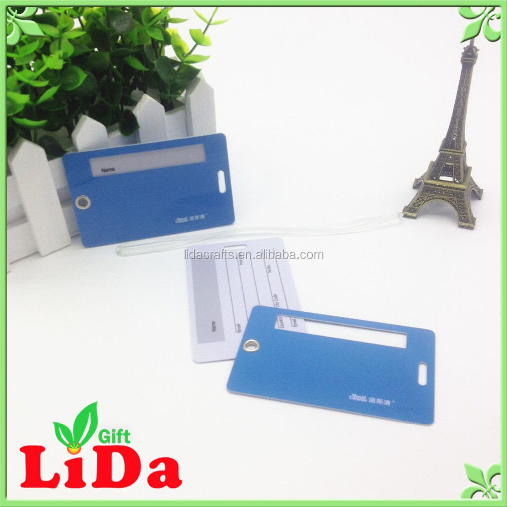 New hot products of hard pvc plastic dog luggage tags