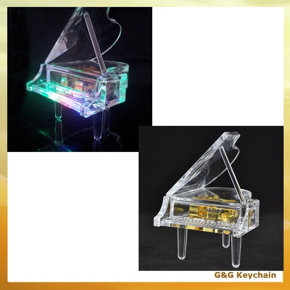 Crystal Mini Piano Shaped Music Box For Wholesale Cm 002-5