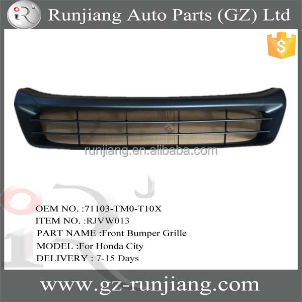 5J0 807 221A abs plastic front bumper grille for Honda City 2012 body kits